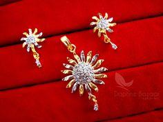 Daphne Zircon Studded Spike Pendant Earrings for Women – Buy Indian Fashion Jewellery Pendant Earrings, Women's Earrings, Imitation Jewelry, Indian Fashion, Anniversary Gifts, Fashion Jewelry, Pendants, Brooch, Silver