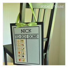 Another cute Chore Chart Combination Set  Black Chore Chart and by AbbiesHouse, $27.00 parenting