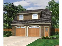 Eplans Garage Plan - Garage with Studio Apartment Above - 583 Square Feet and 0 Bedrooms from Eplans - House Plan Code HWEPL67359