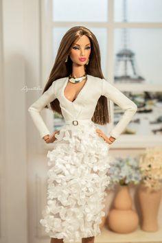 White Blossom 01 - Dress for Fashion Royal  12'' Fashion & Same size 12'' fashion Doll