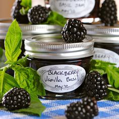 Blackberry Vanilla Basil Jam. Great food gift to make!