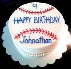 Boys baseball themed cake