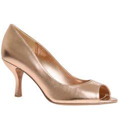 Rose gold peep toe-bridesmaid shoe option