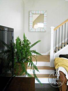 DIY Old Mirror gets a Striped Coastal Update DIY Mirror DIY Home DIY Decor