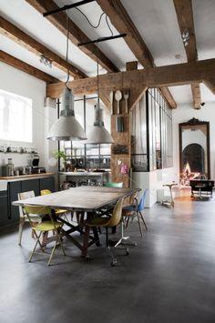 poutre bois plafond pente - Recherche Google | chalet repeint ...