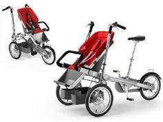 ¿Tienes peques? Mira que fácil es estar en forma con este carrito-bicicleta.