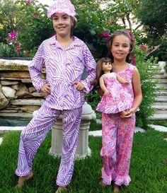 0a1515e1ed Laura Dare Purple Zebra Long Sleeve Pajama Pant Set - Mix and match all 4