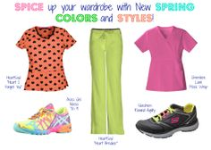 Spice up your Spring wardrobe with these New Spring colors and styles! | Alegria Cherokee Store #CharlotteNC #Nurses #Nursing #Scrubs #Uniforms #HeartSoul #CherokeeLuxe #Skechers #Asics