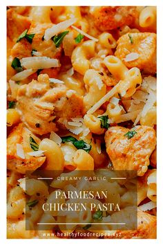 Best & healthy recipes of Instant Pot Creamy Garlic Parmesan Chicken Pasta Pasta Recipes Indian, Easy Healthy Pasta Recipes, Pasta Recipes For Kids, Creamy Pasta Recipes, Vegetarian Pasta Recipes, Healthy Chicken Pasta, Pasta Dinner Recipes, Garlic Chicken Recipes, Yummy Pasta Recipes