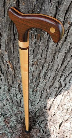 Peruvian Walnut - Curly/Birdseye Maple - RootandBranchGifts (from the Mark Dwyer Collection) Wooden Walking Canes, Wooden Walking Sticks, Walking Sticks And Canes, Cool Wallpapers For Iphone 7, Custom Canes, Cane Sword, Cool Wood Projects, Cane Handles, Cane Stick