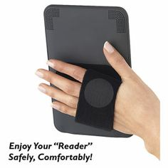 Hold with one hand and type with the other.  Velcro base and hand band $16.95