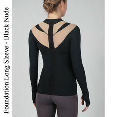 Foundation Long Sleeve, Black-Nude IntelliSkin Women's Compression Shirt #medical #medicalsupplies #pro2medical #health #healthcare #lifestyle #Lubbock  #body #skin #posture