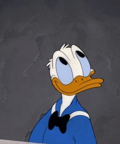 Thanks to the revival of Disney's Ducktales, Donald Duck is back in action, and in a big way. While we love us some new-age Donald, our favourite vintage is old-school Donald. Walt Disney Characters, Animated Cartoon Characters, Cartoon Gifs, Cartoon Images, Disney Best Friends, Mickey And Friends, Duck Cartoon, Disney Duck, A Hat In Time