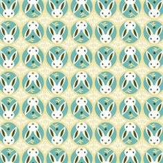 Bunnies | SKy from Forest Friends Flannel by Michelle Engel Bencsko for Cloud9 Fabrics