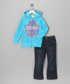 Take a look at this Blue 'Princess' Zip-Up Hoodie & Jeans - Infant, Toddler & Girls by Blow-Out on #zulily today!  I just entered the #zulily  #fall  essentials contest! Have you entered yet?