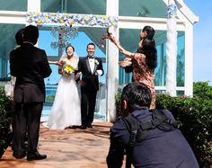 Anse-Vata, mardi 3 mai 2016. Daisuke Katayama et Haruka Matsushita font partie des couples japonais qui ont choisi  le Caillou pour la célébration de leur mariage ou de leur lune de miel. La Nouvelle-Calédonie reçoit, chaque année, plus de 300 couples japonais.