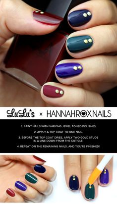 Follow our steps on the blog to make this dazzling jewel tone mani your own!