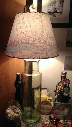Map Lampshade Custom MapShade USA by botanicallampshades on Etsy