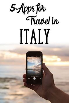 5 Essential Apps for Travel in Italy - the train one is essential! More