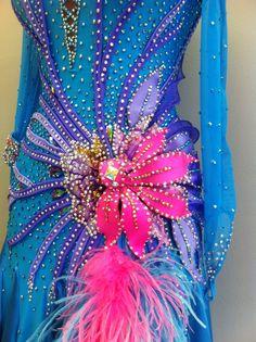 Blue Ballroom Dance Dress Blue Smooth Dance от DesignByNatasha