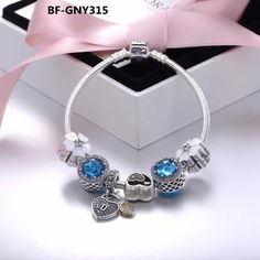 Great deal : PANDORA BLUE LOVE...order today get price off here!http://www.charmsilvers.com/products/pandora-blue-love-flower-theme-charm-bracelet?utm_campaign=social_autopilot&utm_source=pin&utm_medium=pin