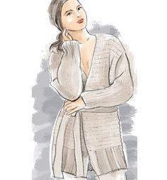 Modèle veste encolure V femme