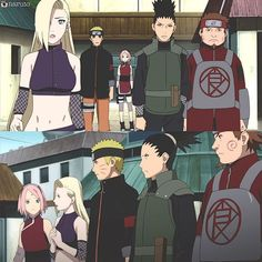 Feels as if my own kids grew up Naruto Naruto Shippuden, Shikamaru, Kakashi, Boruto, Shikatema, Narusaku, Anime Naruto, Manga Anime, Naruto Family