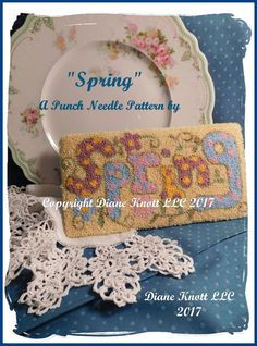 SPRING Punch Needle Pattern Download by Diane Knott LLC by DianeKnottLLC on Etsy