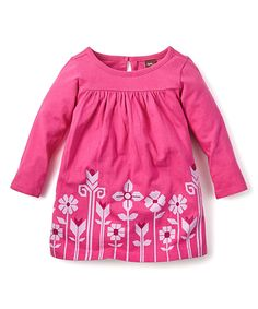 Loving this Tea Collection Fuchsia Floral Dress on #zulily! #zulilyfinds