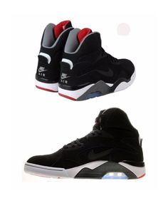 on sale 29f32 05472 NIKE AIR FORCE 180 MID SIZE 11.5 BLACK-GREY-UNIVERSITY RED 537330 002 NEW