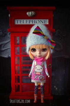 RESERVED for Sarah OOAK Custom Blythe doll 3 от splattergirluk