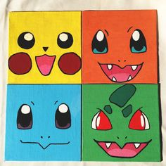 Pokemon panel painting by Nerdyshop on Etsy Pokemon Craft, Pokemon Decor, Pokemon Room, Pokemon Birthday, Pokemon Party, Gamer Room, Painting Tips, Painting For Kids, Art For Kids