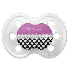 Heart Personalized Custom Name Baby Pacifier