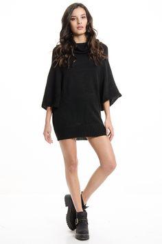 Vestido M/L Jenna -Negro en DeluxeBuys!