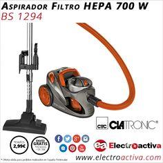 ¡Elimina eficazmente la suciedad de una pasada! Aspirador CLATRONIC BS 1294 http://www.electroactiva.com/clatronic-aspirador-bs1294-naranja-filtro-hepa-700-w.html #Elmejorprecio #Aspirador #Electrodomesticos