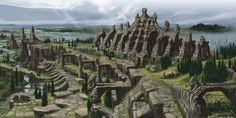 Skyrim Concept Art - Nordic ruins
