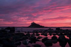 Sunset over St. Michaels Mount, Cornwall