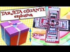 How to make Explosion box / DIY Valentines Day Explosion Box /Explosion Box Tutorial Exploding Box For Boyfriend, Exploding Gift Box, Explosion Box Tutorial, Handmade Gifts For Boyfriend, Bff Gifts, Giant Card, Origami And Quilling, Diy Box, Valentine's Day Diy