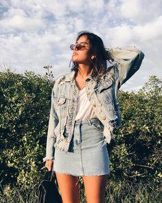 ☾✧ Style Pinterest ❁ | Silvery Moon☽ Jeans, saia, jaqueta