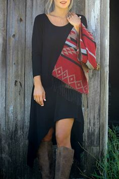 Long Sleeve Irregular Hem Midi Dress