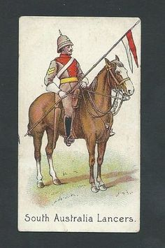 RARE R J Hill 1900 Colonial Troops (SA) South Australia Lancers in Collectables, Cigarette/ Tea/ Gum Cards, Cigarette Cards Edouard Detaille, French Pictures, Colonel, French Army, Napoleonic Wars, New York Public Library, British Army, South Australia, Military History