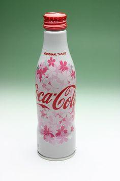 Coca Cola Japan Sakura Cherry Blossom Aluminium Bottle Spring Edition New Full #CocaCola