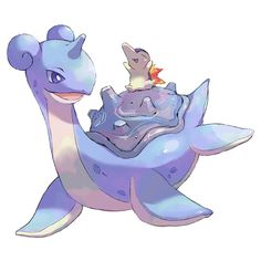 Lapras & Cyndaquil. Don't forget to like this Pokemon Facebook page for more cool Pokemon content: http://www.facebook.com/shinydragonairx