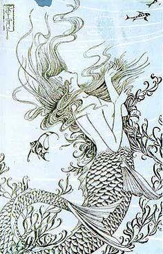 Showa era mermaid from Japan