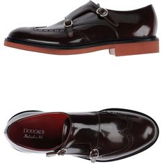 Doucal's Moccasins ($98) ❤ liked on Polyvore featuring shoes, loafers, deep purple, round cap, mocasin shoes, polish shoes, shiny shoes and buckle shoes