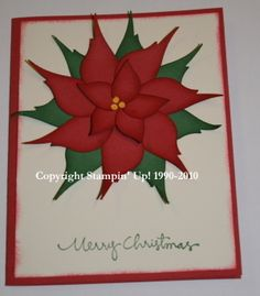 Stampin' Up!  Bird Punch  Brandi Weinette  Pointsettia