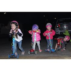 Looking for something fun to do with your GlowSticks? Here's a thought - why not use them as scooter night lights for cool evening rides in the neighborhood?  Choose your Party Sticks glow sticks today 🥳  📸@the_shaw_girls  #partysticks #USAToyz #glowinthedark #glowsticks Party Favors For Kids Birthday, Girl Birthday, Dinosaur Party, Unicorn Party, Activities For Boys, Perfect Smile, Artists For Kids, Glow Sticks, Party Accessories