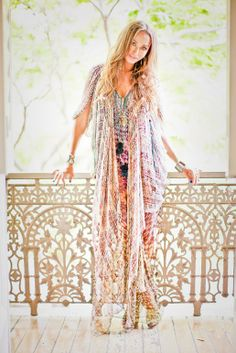 Beautiful bohemian kaftan in soft chic hues. Camilla Franks.  #bohemian ☮k☮ #boho