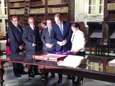 The Duke of Cambridge at the National Library, viewing the original citation awarding the George Cross to #Malta. Photo by Rob Luke (@HCRobLuke on Twitter) │ #VisitMalta visitmalta.com