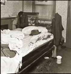 1940s crime scene photograph
